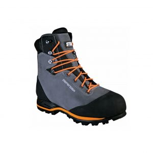 Defender chain saw protection safety boots.